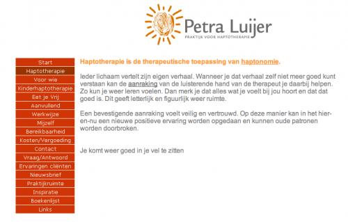 Haptotherapie Petra Luijer